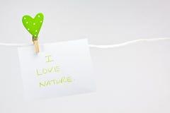 jag älskar naturen Arkivfoton