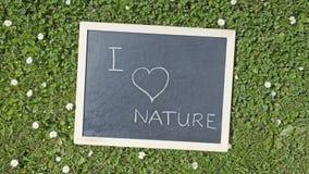 Jag älskar naturen Arkivfoto