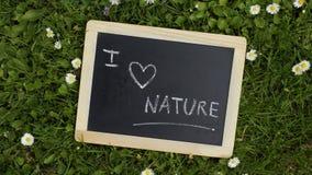 Jag älskar naturen Royaltyfri Fotografi