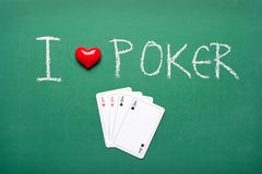 jag älskar poker Royaltyfri Foto