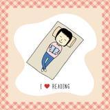 Jag älskar reading1 Royaltyfri Foto