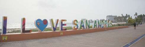 Jag älskar San Andres, Colombia Royaltyfri Foto