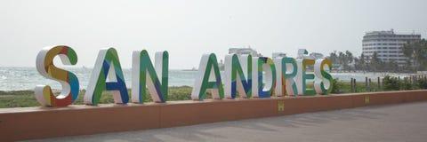 Jag älskar San Andres, Colombia Royaltyfri Fotografi