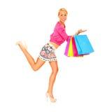 Jag älskar shopping! Arkivbild
