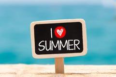 jag älskar sommar Arkivbilder