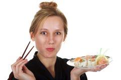 jag älskar sushi Royaltyfri Bild