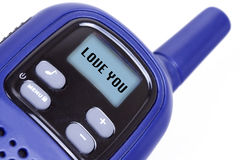 jag älskar teckensändaren för den bärbara radion dig Arkivbild