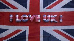 Jag älskar UK framförande 3d royaltyfria bilder