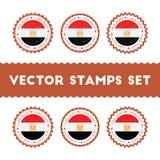 Jag älskar uppsättningen för Egypten vektorstämplar vektor illustrationer