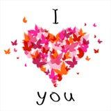 jag älskar valentinen dig royaltyfri illustrationer