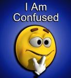 Jag är Confused 6 Arkivbild