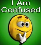 Jag är Confused 7 Arkivbild