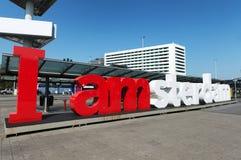 Jag är det Amsterdam tecknet Royaltyfria Foton