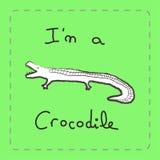 Jag är en krokodil Vektor Illustrationer