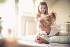 Jag är mammafrisören ballerina little Royaltyfri Fotografi