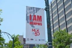 Jag är Memphis, MLK-hedersgåva Memphis, Tennessee Fotografering för Bildbyråer