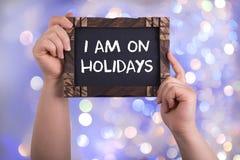 Jag är på ferier Fotografering för Bildbyråer