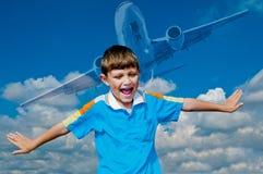 Jag önskar att vara en pilot Royaltyfri Fotografi