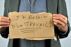 Jag behöver ett skriftligt jobb i franskt arkivfoton