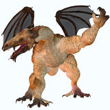 Jag Dragon. A creature of myth and fantasy the dragon is a fierce flying monster with horns and large teeth Stock Photos