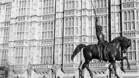 jag görar till kung den richard statyn Arkivbilder