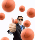 Jag gillar basket Arkivbild