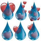 Jag gillar det nya och rena vattnet - samlingsvattenförälskelse royaltyfri illustrationer