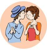 jag kysser kan dig royaltyfri illustrationer