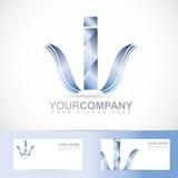 jag letter logo Fotografering för Bildbyråer