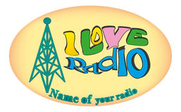 Jag älskar radio 3 Fotografering för Bildbyråer