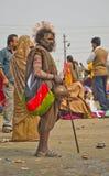 En sadhu i kumbh 2013 i allahabad Royaltyfri Foto