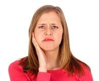 Jag måste se min tandläkare! royaltyfria foton
