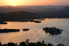 Jag Mandir island sunset view. Udaipur. Rajasthan. India Stock Image