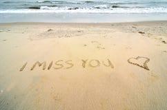 Jag missa dig Arkivbild