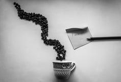 Jag missa kaffe med dig Royaltyfri Fotografi