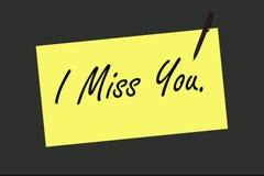 Jag missa You på teckenbräde arkivfoton