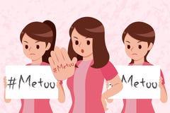 Jag på kvinnor räcker för vektor illustrationer