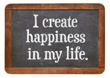 Jag skapar lycka i mitt liv arkivfoton