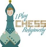 Jag spelar schack Arkivbild