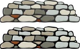 jag stenar väggen Arkivbilder