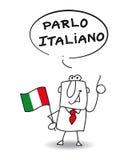 Jag talar italienare stock illustrationer