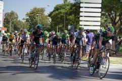 Jaga gruppen - etapp 2 Vuelta en España 2014 Arkivfoton