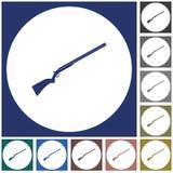 Jaga skottvapensymbolen Fotografering för Bildbyråer