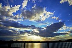 Jaga solnedgång Fotografering för Bildbyråer