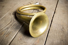 Jaga trumpet Royaltyfri Fotografi