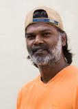Jagadish Kadur. BENGALURU, INDIA - CIRCA NOVEMBER 2013: Mr. Jagadish Kadur, award winning painter and sculptor Stock Photos