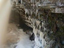 Jagala cai no inverno Imagem de Stock