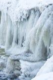 Jagala-Wasserfall im Winter Lizenzfreie Stockbilder