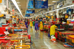 Jagalchi Indoor Fish Market, Busan, Korea. Royalty Free Stock Photography