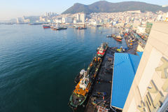 Jagalchi połowu port obok Jagalchi rynku, Busan, Korea Zdjęcia Stock